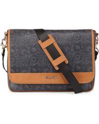 Robert Graham Frye Paisley-Print Faux-Leather Messenger Bag - Lyst
