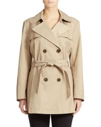 Via Spiga Plus Double Breasted Scarpa Hooded Trench Coat - Lyst