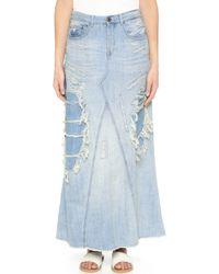 Scotch & Soda Long Denim Skirt - Blue