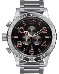 Nixon 51-30 Ip Stainless Steel Chronograph Bracelet Watch silver - Lyst