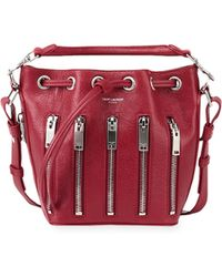 Saint Laurent - Emmanuelle Zip Bucket Bag - Lyst