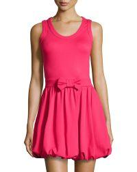 RED Valentino Bow-Waist Sleeveless Dress - Lyst