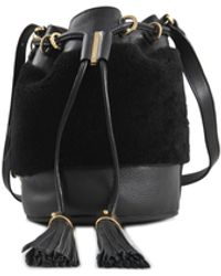 See By Chloé Vicki Shearling Bucket Bag - Lyst
