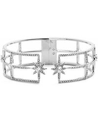 Nadri - 'starry Night' Hinge Open Cuff - Lyst