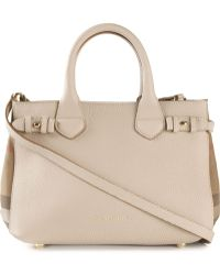 Burberry 'The Small Banner' Tote - Lyst