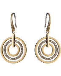 Michael Kors Pave Small Rings Fishwire Earring - Lyst