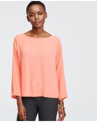 Ann Taylor | Boatneck Blouse | Lyst