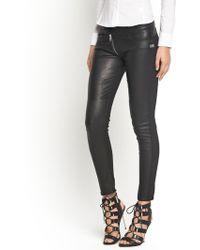 G-star Raw Lynn Pu Zip Ankle Skinny Trousers - Lyst