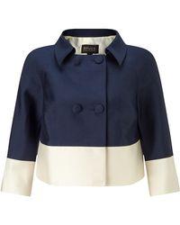 Bruce By Bruce Oldfield - Silk Wool Cropped Jacket - Lyst