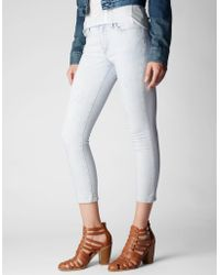 True Religion Halle Mid Rise Super Skinny Womens Crop - Lyst