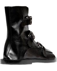 Jil Sander Triple Buckle Leather Sandals - Lyst