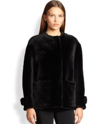 Burberry London Isden Short Shearling Jacket - Lyst