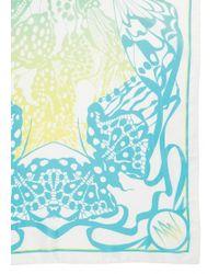 Matthew Williamson Wing Lace Green Silk Scarf - Lyst