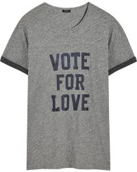 J.Crew Vote For Love Cottonjersey Tshirt - Lyst