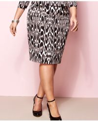 Inc International Concepts Plus Size Animal-Print Pencil Skirt - Lyst