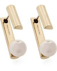 Jason Wu Gold-plated Pearly Jacket Earrings - Metallic
