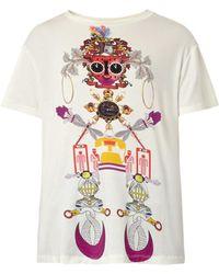 Mary Katrantzou Clocktopia-print Jersey T-shirt - Lyst