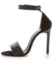 Won Hundred Alva Ankle Strap Sandal  Black - Lyst