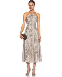 Zimmermann Essence Cross Back Cotton Dress - Lyst