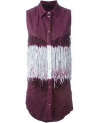 DROMe - Fringed Sleeveless Shirt - Lyst