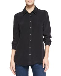 Equipment Brett Clean Blouse with Knit Detail - Lyst