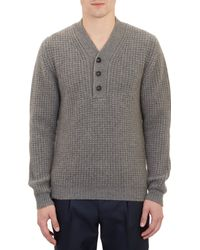 Marc Jacobs Pullover Henley Sweater - Lyst