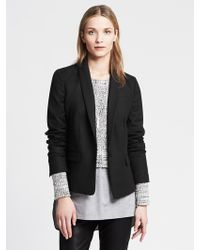 Banana Republic Black One-button Blazer - Lyst