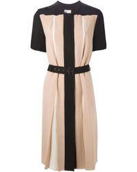Lanvin Pink Pleated Dress - Lyst