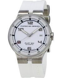 Porsche Design - Flat Six Chronograph Watch W/ Rubber Strap - Lyst