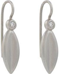 Linda Lee Johnson - Diamond & Platinum Winter Leaf Earrings - Lyst
