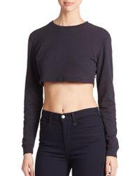 True Religion Joan Smalls X Cropped Sweatshirt - Lyst