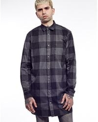 Cheap Monday Long Shirt In Check - Lyst