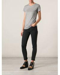 J Brand Round Neck T-Shirt - Lyst
