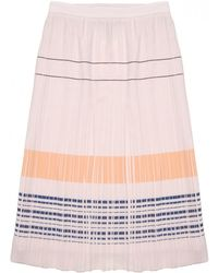 O'2nd | Bobby Embroidered Pleated Skirt | Lyst
