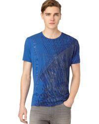 Calvin Klein Jeans Linear Shadows T-shirt - Lyst