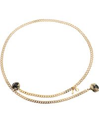 Roberto Cavalli Arion and Salamander Chain Belt - Lyst