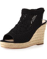 Vc Signature Minerva Crochet Wedge Sandal - Lyst