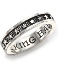 King Baby Studio   Sterling Silver Star Stackable Band Ring   Lyst