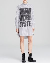 Marc By Marc Jacobs Shirt Dress - Venice Stripe Button Up Graphic - Lyst