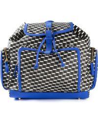 Pierre Hardy Geometric Print Backpack - Lyst