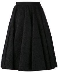 Giambattista Valli Pleated Fuzz Skirt - Lyst