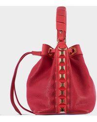 "Salar Hammered Red Leather ""Tala"" Mini Bag - Lyst"