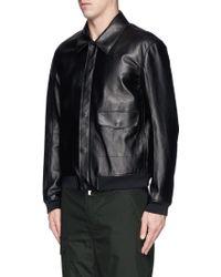 3.1 Phillip Lim Point Collar Leather Flight Jacket - Lyst
