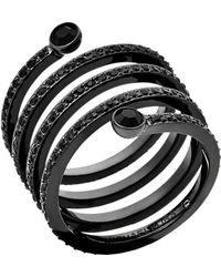 Michael Kors | Pavé Spiral Ring | Lyst