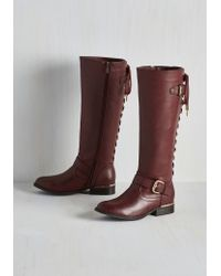 Wanted Shoes - On Vocation Time Boot In Wine - Lyst