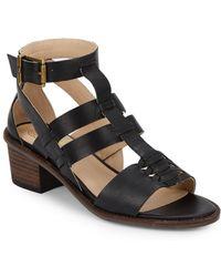 Elliott Lucca - Leather Woven-detail Sandals - Lyst