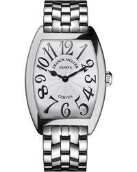 Franck Muller - Ladies Curvex Stainless Steel Watch - Lyst