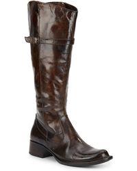Born - Wylla Leather Boots - Lyst