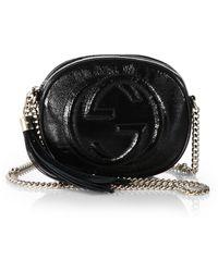 Gucci Soho Soft Patent Leather Mini Bag - Lyst