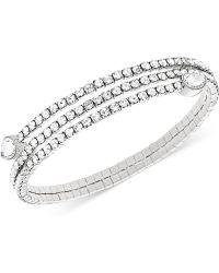 Swarovski Twisty Crystal Pear-shaped Bangle Bracelet - Lyst